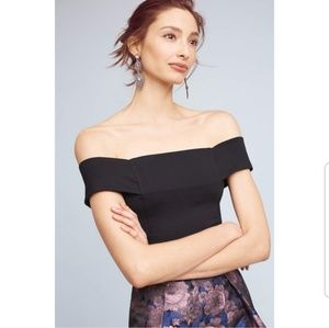 NWT Deletta Ponte Off the Shoulder Blouse